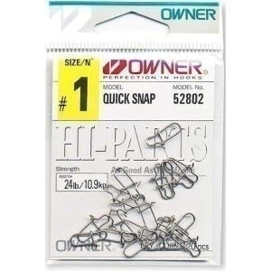 52802-01 Quick Snap Американка 10,9кг 20шт белый застежка Owner