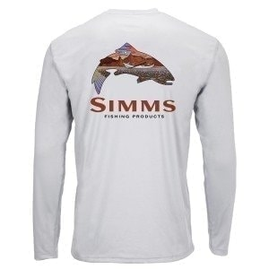 Solar Tech Tee Simms Troutscape Sterling M Блуза Simms
