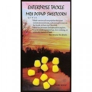 Pop Up Sweetcorn Yellow Unflavoured насадка Enterprise Tackle