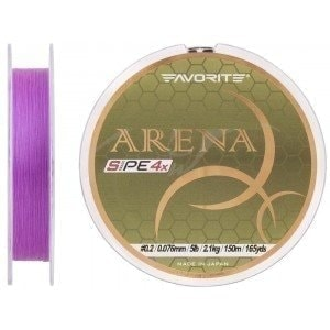 Arena PE 4x 100m (purple) #0.175/0.071mm 1.4kg шнур Favorite