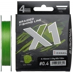 X1 PE 4x 150m (l.green) #2.0/0.240mm 30lb/13.8kg шнур Favorite
