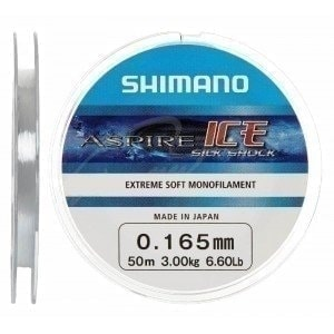Aspire Silk Shock Ice 50m 0.225mm 5.8kg леска зимняя Shimano